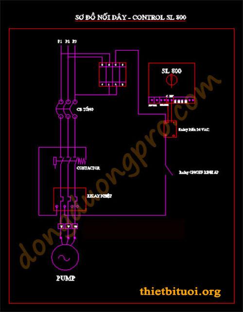 Cách làm hệ thống tưới tự động - sơ đồ tủ điện