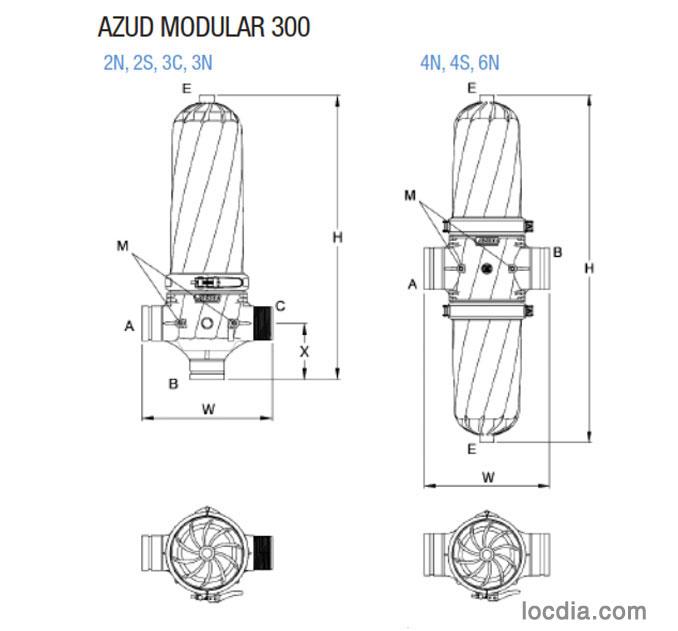 Azud Modular 300